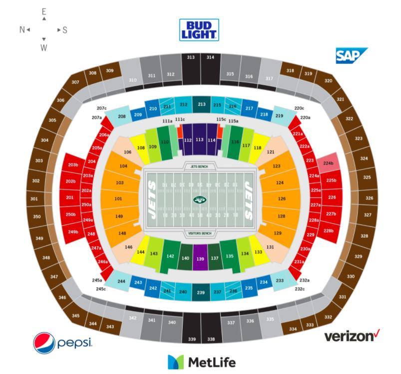 a395219d El estadio Metlife de asientos mapa de Chorros de asientos mapa ...