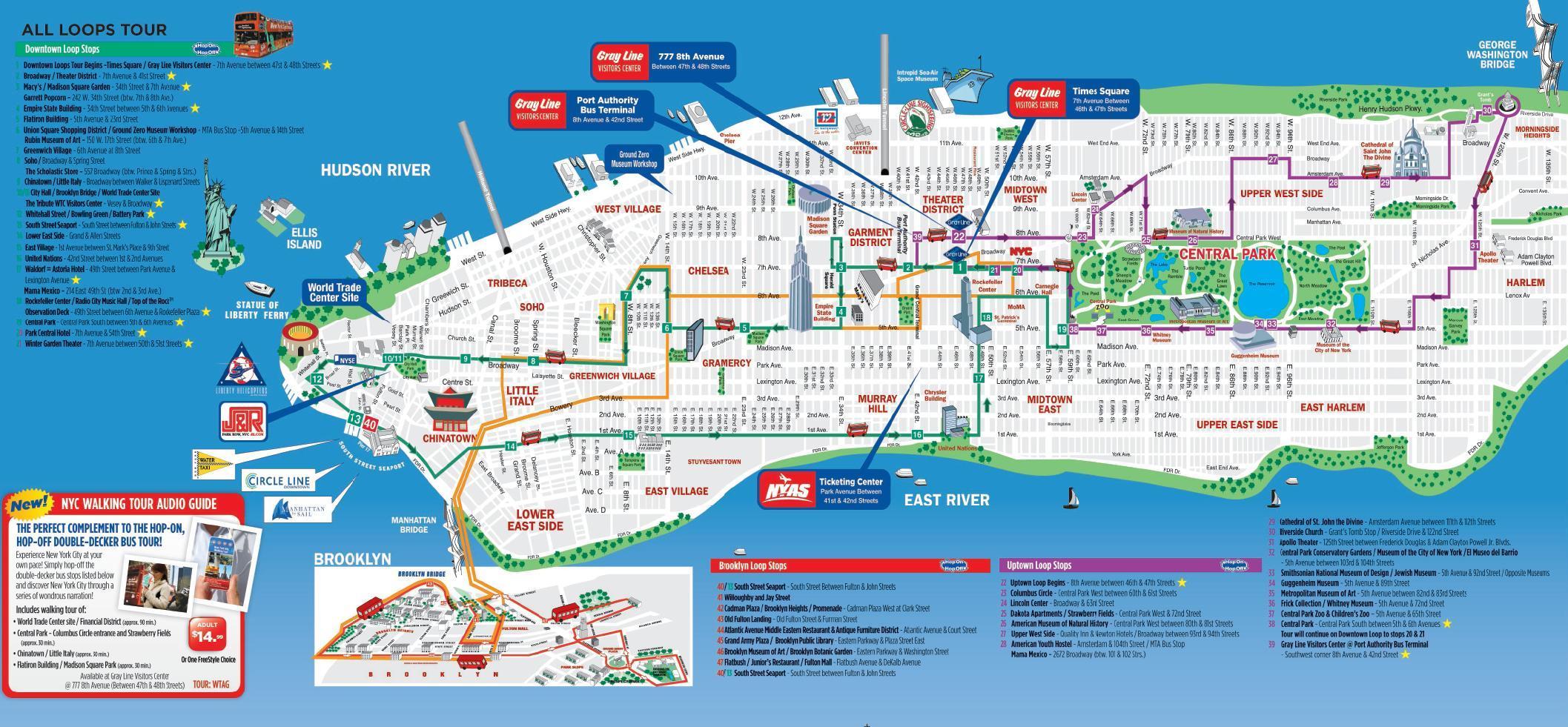 New York Mapa Turistico.Nyc Caminar Mapa Turistico De Nueva York Caminar Mapa Imprimible Nueva York Estados Unidos