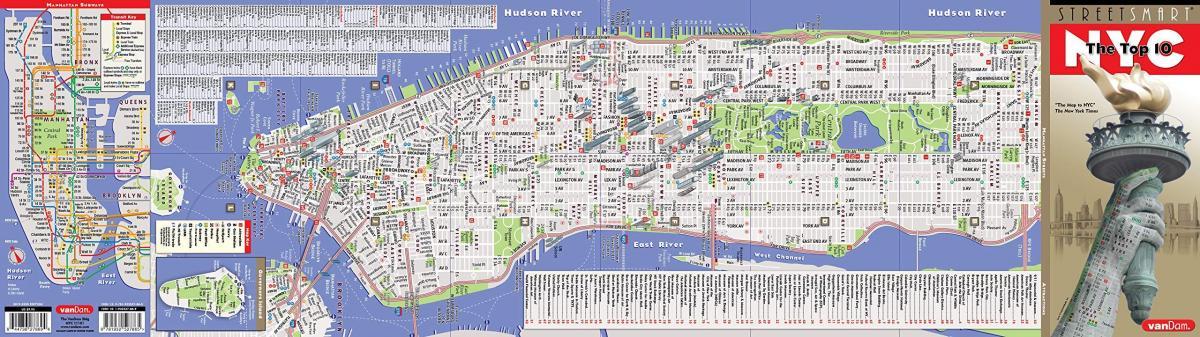 mapa de la ciudad de nueva york calles y avenidas
